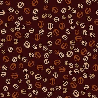 Fond de vecteur avec des grains de café. modèle sans couture d'impression café