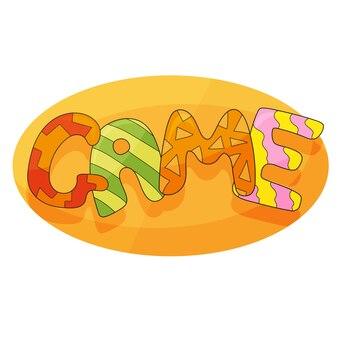 Fond de vecteur de jeu d'enfants dans le style de dessin animé. bannière drôle lumineuse pour la décoration de salle de jeux d'enfants. graphique coloré pour la salle de jeux pour enfants