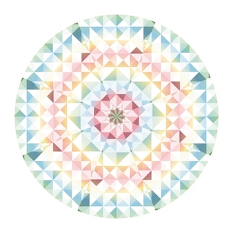 Fond de vecteur de kaléidoscope. motif géométrique abstrait low poly. fond clair triangulaire. éléments géométriques triangulaires. abstrait triangulaire. kaléidoscope géométrique de vecteur.