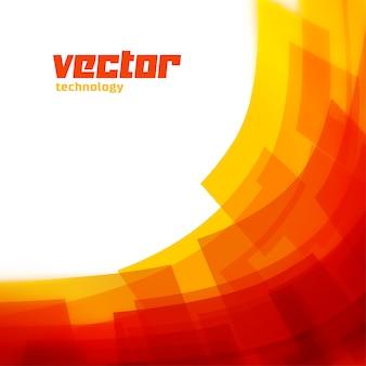 Fond de vecteur avec des lignes floues orange