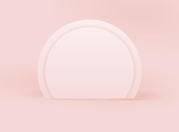Fond de vecteur de modèle avec scène réaliste. conception pastel réaliste pour le prix du produit, nomination. toile de fond géométrique vide de maquette. stand du vainqueur de la cérémonie