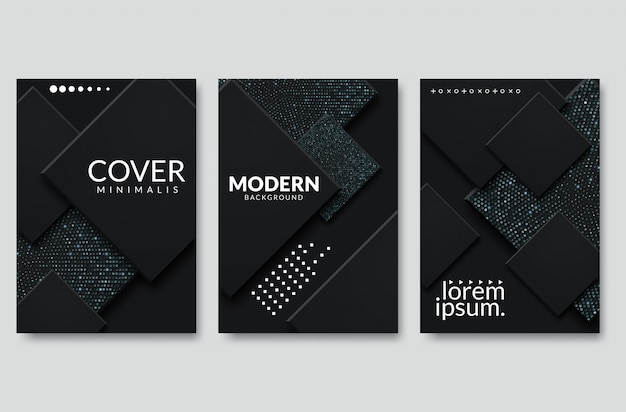 Fond de vecteur moderne noir chevauchement multi éclairage carré papier pour la conception de site web de texte