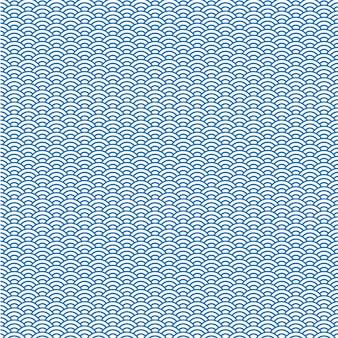 Fond de vecteur de motif de vague japonaise bleue
