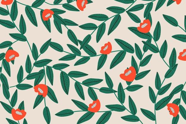 Fond de vecteur à motifs floraux sans soudure