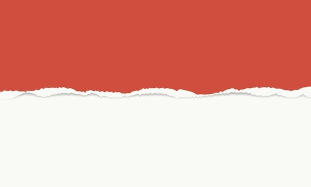 Fond de vecteur de papier déchiré rouge et blanc vintage