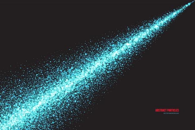 Fond de vecteur de particules rondes scintillantes cyan miroitant