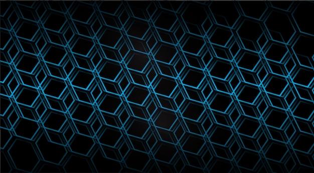 Fond de vecteur de pixel de grille hexagonale en nid d'abeille