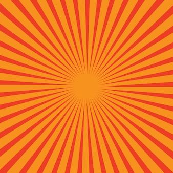 Fond de vecteur avec les rayons du soleil