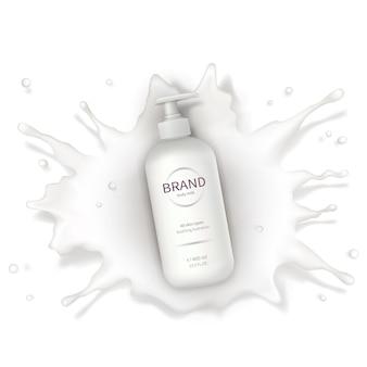 Fond de vecteur réaliste cosmétique avec de la crème