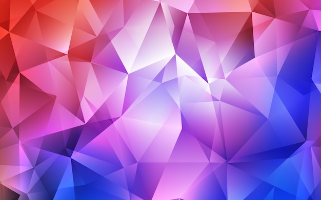Fond de vecteur rouge avec des triangles de lignes.