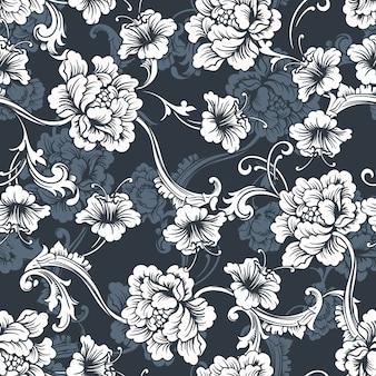 Fond de vecteur sans couture. motif baroque