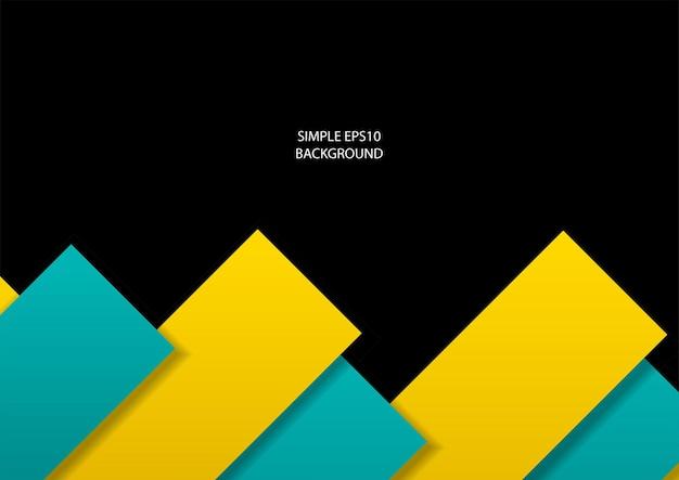 Fond de vecteur simple de tosca et rectangles jaunes en eps10