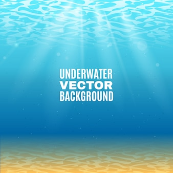 Fond de vecteur sous l'eau