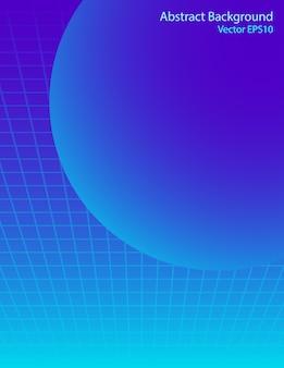 Fond de vecteur de sphère bleue