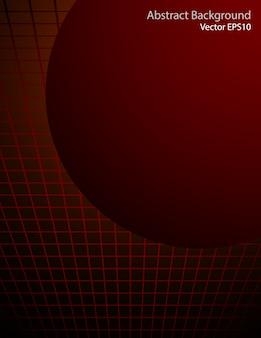 Fond de vecteur de sphère rouge foncé