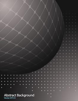 Fond de vecteur de sphère sombre