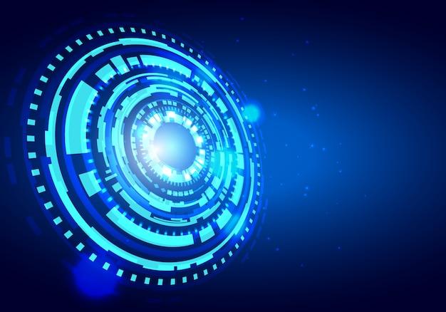 Fond de vecteur de technologie futuriste hud. fond de concept de données volumineuses.