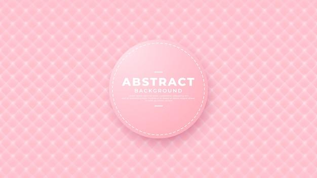 Fond de vecteur de texture rose géométrique.