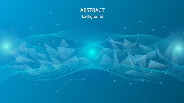 Fond de vecteur de triangles transparents et d'un réseau cristallin. eps 10
