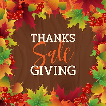 Fond de vecteur de vente coloré thanksgiving