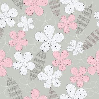 Fond de vectorielle continue motif floral surface mignon