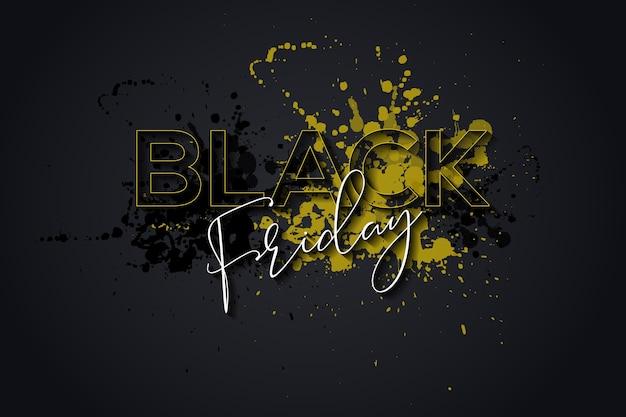 Fond de vendredi noir éclaboussure d'encre abstraite