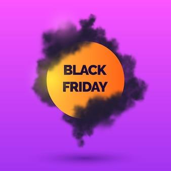 Fond de vendredi noir avec fumée noire
