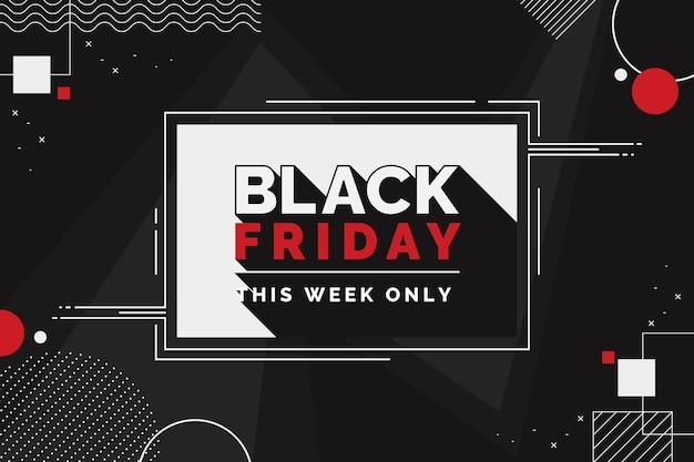 Fond de vendredi noir géométrique plat