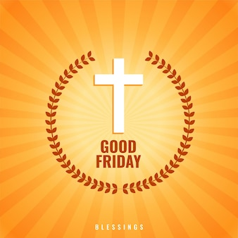 Fond de vendredi saint avec croix