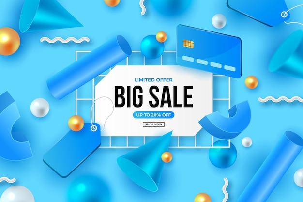 Fond de vente 3d réaliste