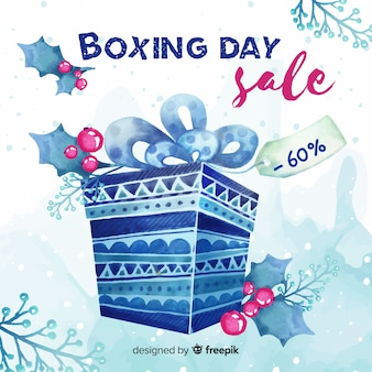 Fond de vente aquarelle boxe jour