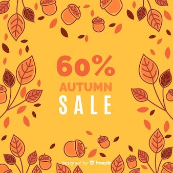 Fond de vente automne design plat