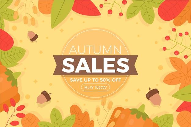 Fond de vente d'automne plat