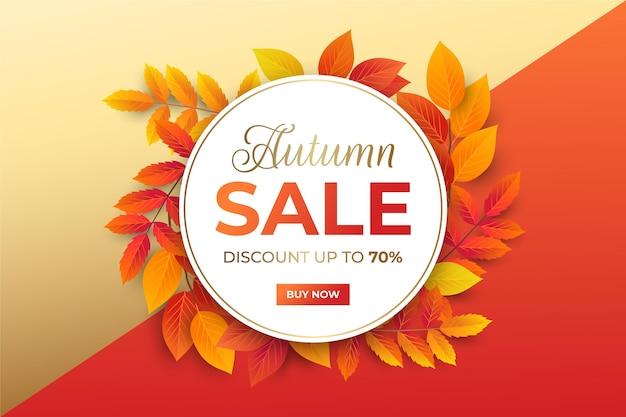 Fond de vente d'automne réaliste