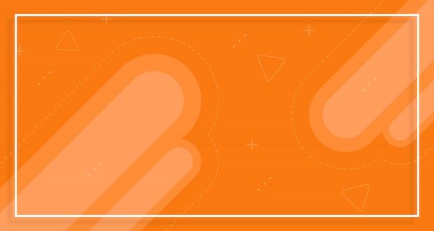 Fond de vente de bannière orange, avec des formes abstraites
