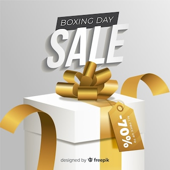 Fond de vente de boxe réaliste