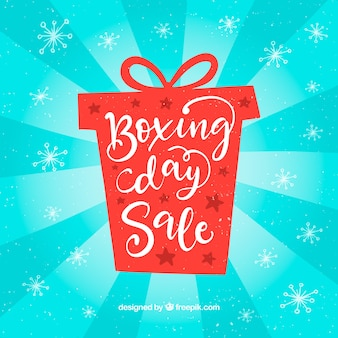 Fond de vente boxing day dessinés à la main