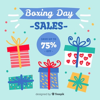 Fond de vente boxing day dessinés à la main