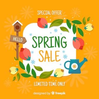 Fond de vente cadre printemps