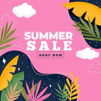 Fond de vente d'été coloré
