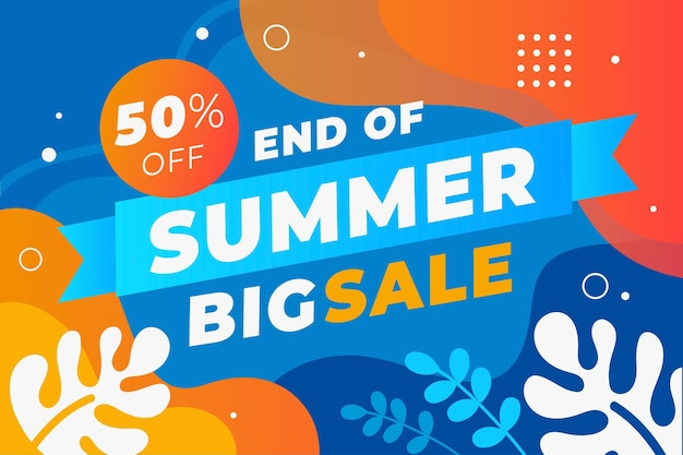 Fond de vente d'été de fin de saison