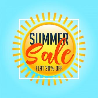 Fond de vente d'été soleil brillant