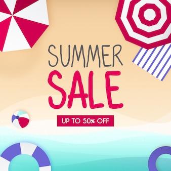 Fond de vente d'été