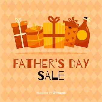 Fond de vente de fête des pères dessinés à la main