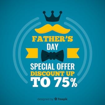 Fond de vente fête des pères