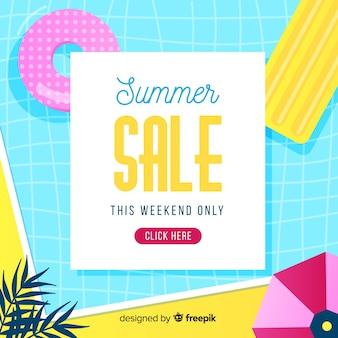 Fond de vente de fin d'été
