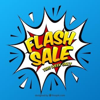Fond de vente flash bleu