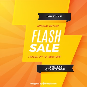 Fond de vente flash dans le style dégradé