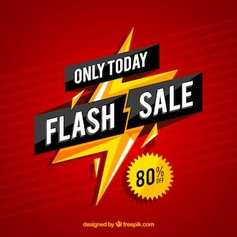 Fond de vente flash dégradé