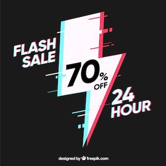 Fond de vente flash foncé